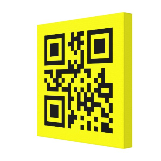 Smiley ☺ Happy Face -- QR Code Canvas Print