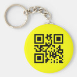 Smiley ☺ Happy Face -- QR Code Key Chain