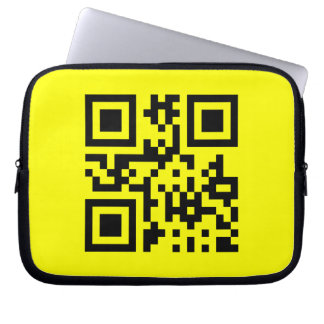 Smiley ☺ Happy Face -- QR Code Laptop Sleeves