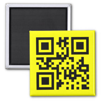 Smiley ☺ Happy Face -- QR Code Magnet
