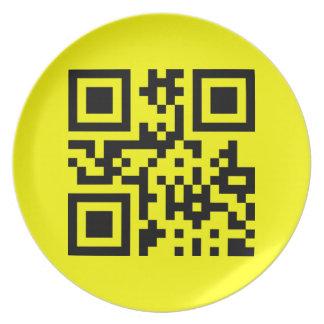 Smiley ☺ Happy Face -- QR Code Melamine Plate