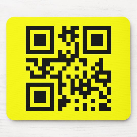 Smiley ☺ Happy Face -- QR Code Mouse Pad