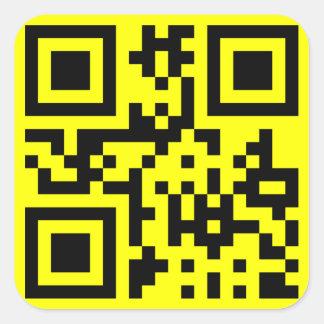 Smiley ☺ Happy Face -- QR Code Square Sticker