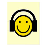 Smiley Headphones Post Card