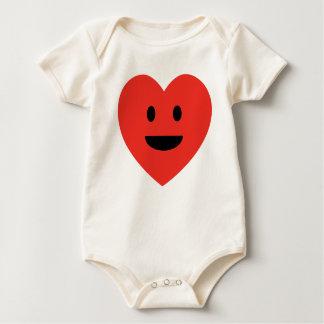 Smiley Heart Baby Bodysuit