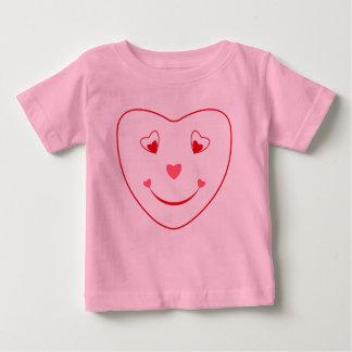 Smiley Heart Face T Shirt