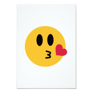 Smiley heart kiss card
