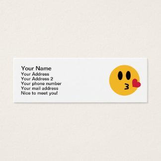 Smiley heart kiss mini business card