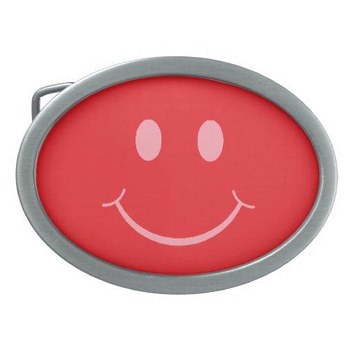Smiley Hebilla Cinturon Oval