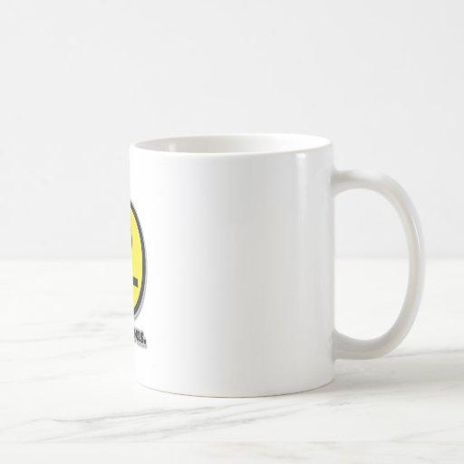 Smiley hilarante de la cara de póker taza de café