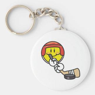 Smiley Hockey Keychain