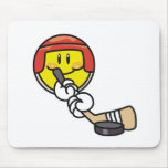 Smiley Hockey Mouse Pad