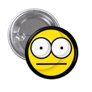 ¿Smiley Huh? Botón Pin Redondo De 1 Pulgada
