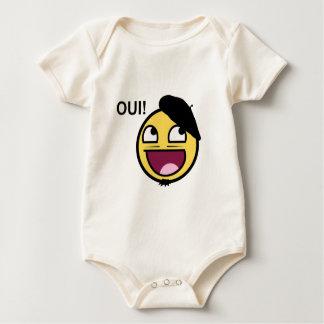 ¡Smiley impresionante en Francia OUI! - Meme Body De Bebé