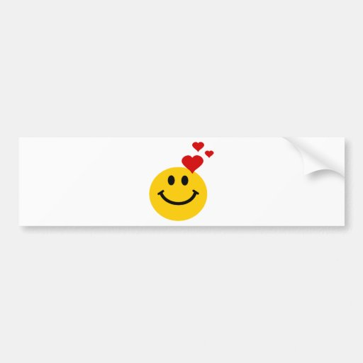 Smiley in Love Bumper Sticker