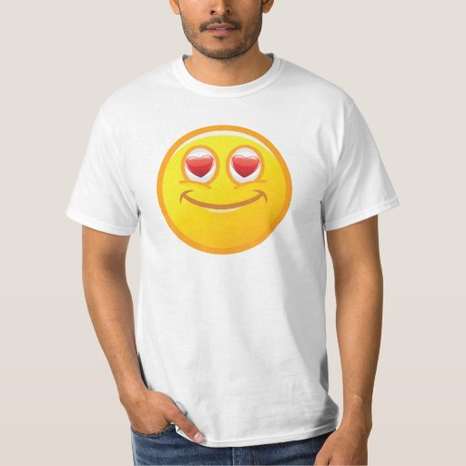 Smiley in Love T Shirt