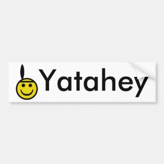 Smiley indio etiqueta de parachoque