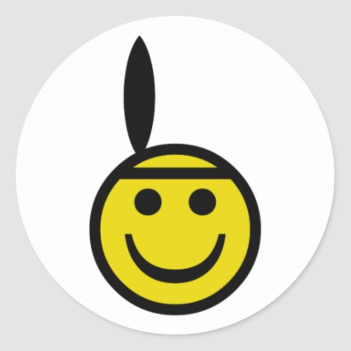 Smiley indio pegatina redonda
