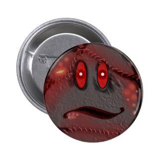 smiley infectado pin redondo 5 cm