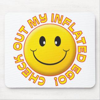 Smiley inflado del ego mousepad
