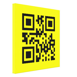 Smiley Inverted ☻ Happy Face -- QR Code Canvas Print