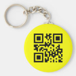 Smiley Inverted ☻ Happy Face -- QR Code Key Chains