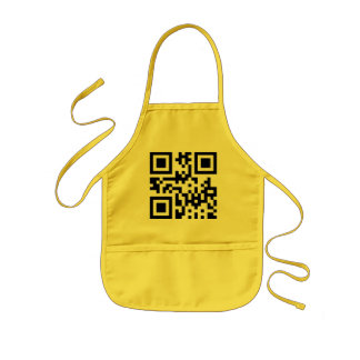 Smiley Inverted ☻ Happy Face -- QR Code Kids' Apron