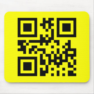 Smiley Inverted ☻ Happy Face -- QR Code Mouse Pad