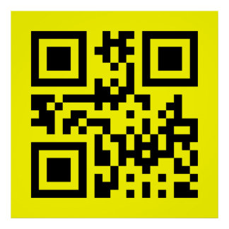 Smiley Inverted ☻ Happy Face -- QR Code Poster