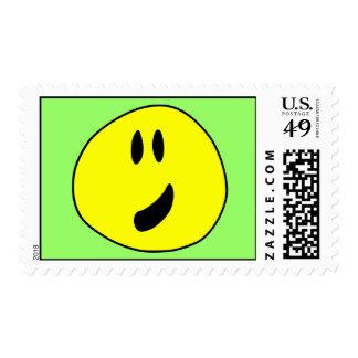 Smiley irregular on Stamp