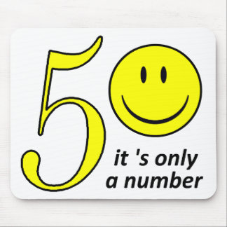 smiley it only a number 50 mouse pad