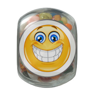 Smiley - Jelly Beans - SRF Glass Candy Jars