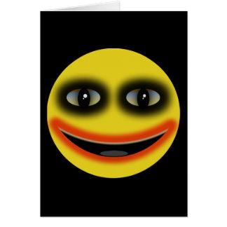 Smiley Joker Obama Greeting Card