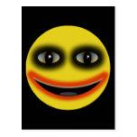 Smiley Joker Obama Postcard