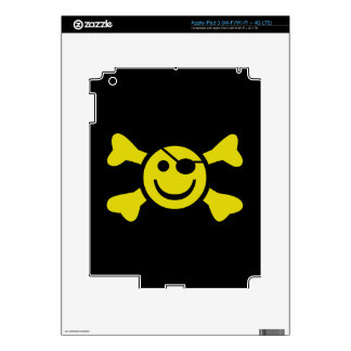 Smiley Jolly Roger Decals For iPad 3