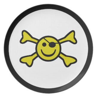 Smiley Jolly Roger Dinner Plate