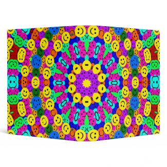 SMILEY KALEIDOSCOPE BINDER binder
