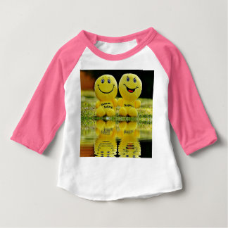 smiley, laugh, bank, mirroring, water, funny, emot baby T-Shirt