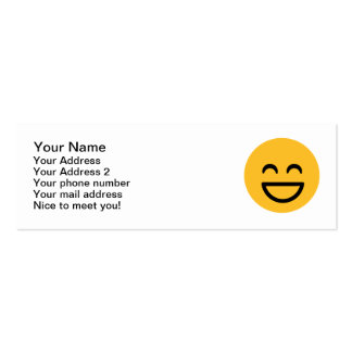 Smiley laugh lol business card templates