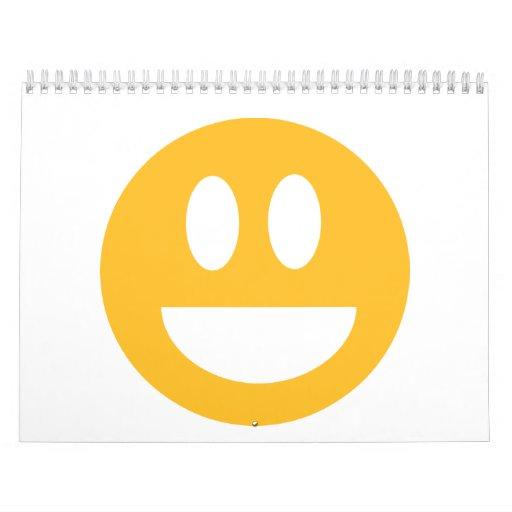 Smiley laugh lol wall calendars