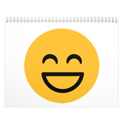 Smiley laugh lol wall calendar