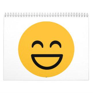 Smiley laugh lol calendar