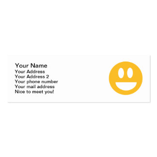 Smiley laugh lol mini business card