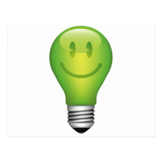 SMILEY LIGHT BULB POSTCARD
