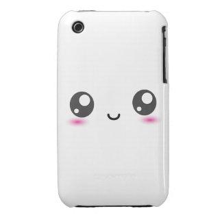 Smiley lindo de Kawaii Case-Mate iPhone 3 Carcasa