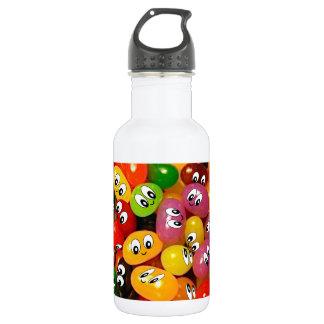 Smiley lindos de la haba de jalea botella de agua