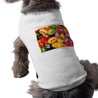 Smiley lindos de la haba de jalea ropa perro