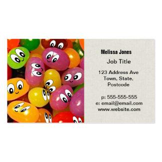 Smiley lindos de la haba de jalea plantilla de tarjeta de visita
