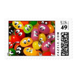 Smiley lindos de la haba de jalea timbre postal