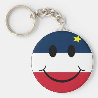 smiley logo keychain